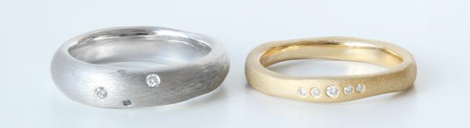 ダイヤモンドのカラー、サイズ、セッティングする位置をデザイン
