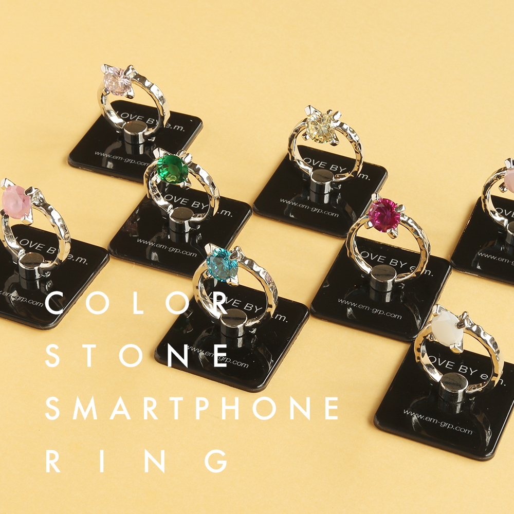 e.m. ZOZOTOWN COLOR STONE SMARTPHONE RING