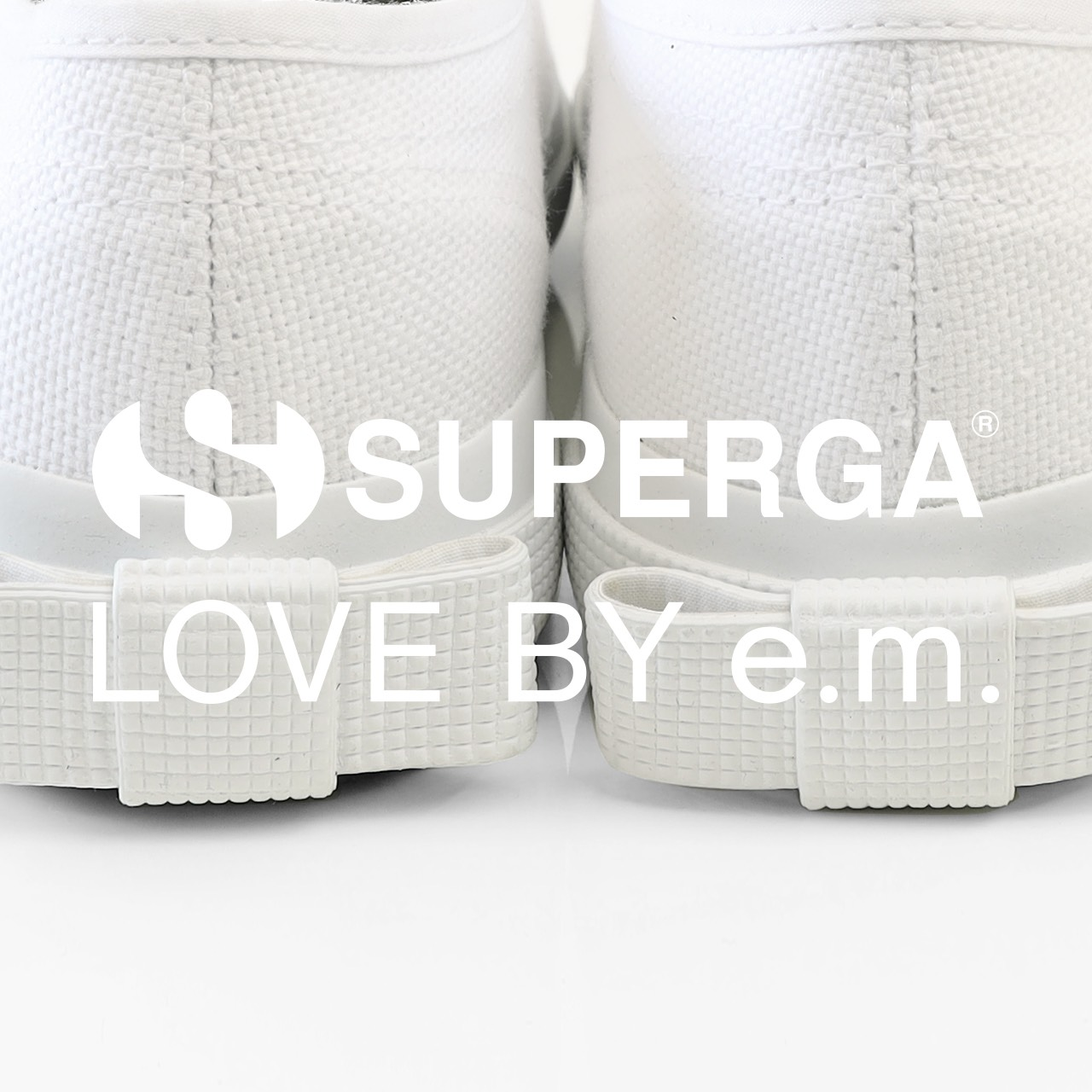 SUPERGA_LOVE BY e.m._別注スニーカー