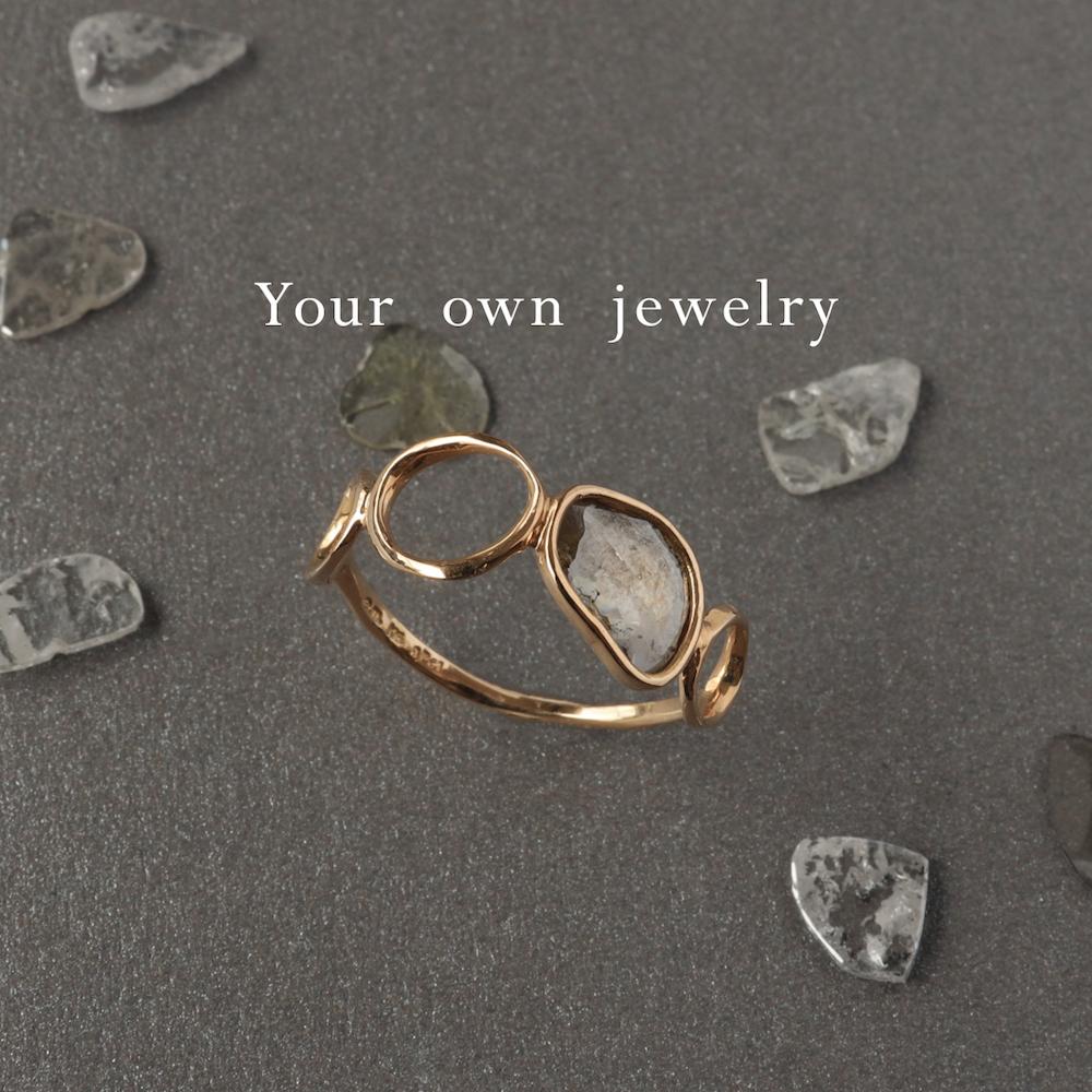 Your own jewelry_スライスダイヤモンド_リング_ゴールド